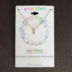 Unwritten Sagittarius♐Rainbow🌈 Zodiac Necklace